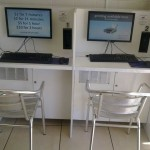 Two internet terminals to use, also coin operated.